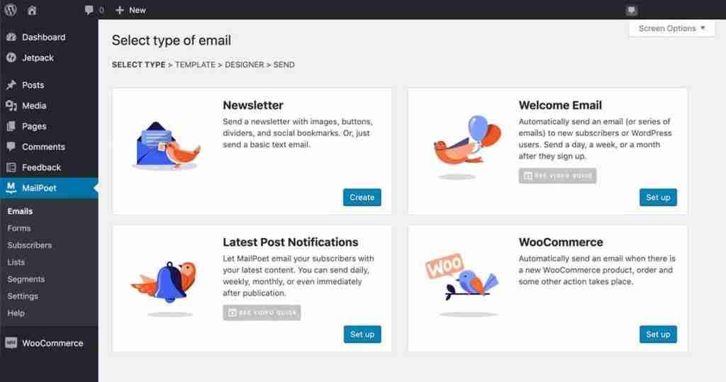 Kodako email marketing default emails.