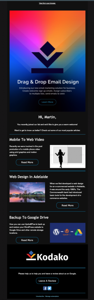 email,marketing,adelaide,campaign