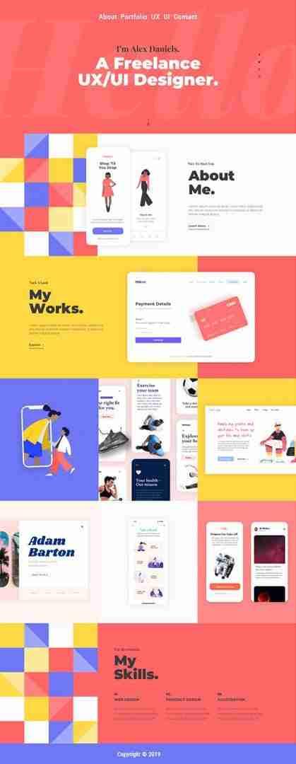 Website Design Page Example Portfolio